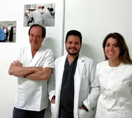 Antonio Castaño, Ernesto Saldaña y Marta Bascón.