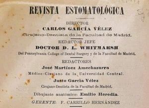 """Mancheta de la """"Revista Estomatológica""""."""
