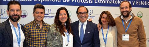 Nacho Rodríguez junto a socios