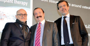 Jaime A. Gil, Giovanni Zucchelli y Carlo Poggio.