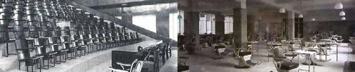 Aula Florestán Aguilar y Clínica Odontológica. En 1945.