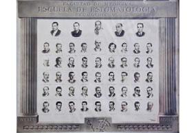 Primera promoción de la Escuela de Estomatología, 1951.