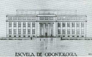 Proyecto primitivo de la Escuela de Odontología en la Ciudad Universitaria (1928).