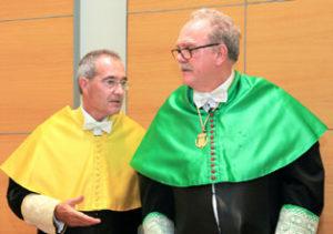 Ustrell y el presidente de la RAED, Alfredo Rocafort.