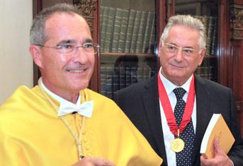 Ustrell y profesor Paolo Menghini de la Universidad de Pavia.