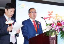Mozo Grau, durante el acto de presentación del programa China Oral Health Care.