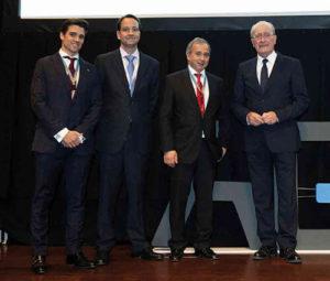 Inauguración oficial del Congreso (de izq. a dcha.) Dr. Alberto Sierra, Dr. Miguel Miñana, Dr. António Ginjeira y D. Francisco de la Torre.