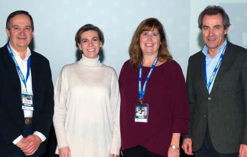 Dr. José Manuel Almerich, Dra. Laura Ceballos, Dra Margherita Fontana y el Dr. Javier Cortés.